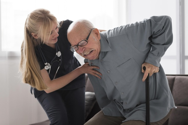 old man pain helped by nurse 23 2148740036